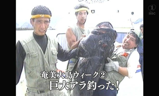 1988年:「巨大アラ釣った!」大熊漁港