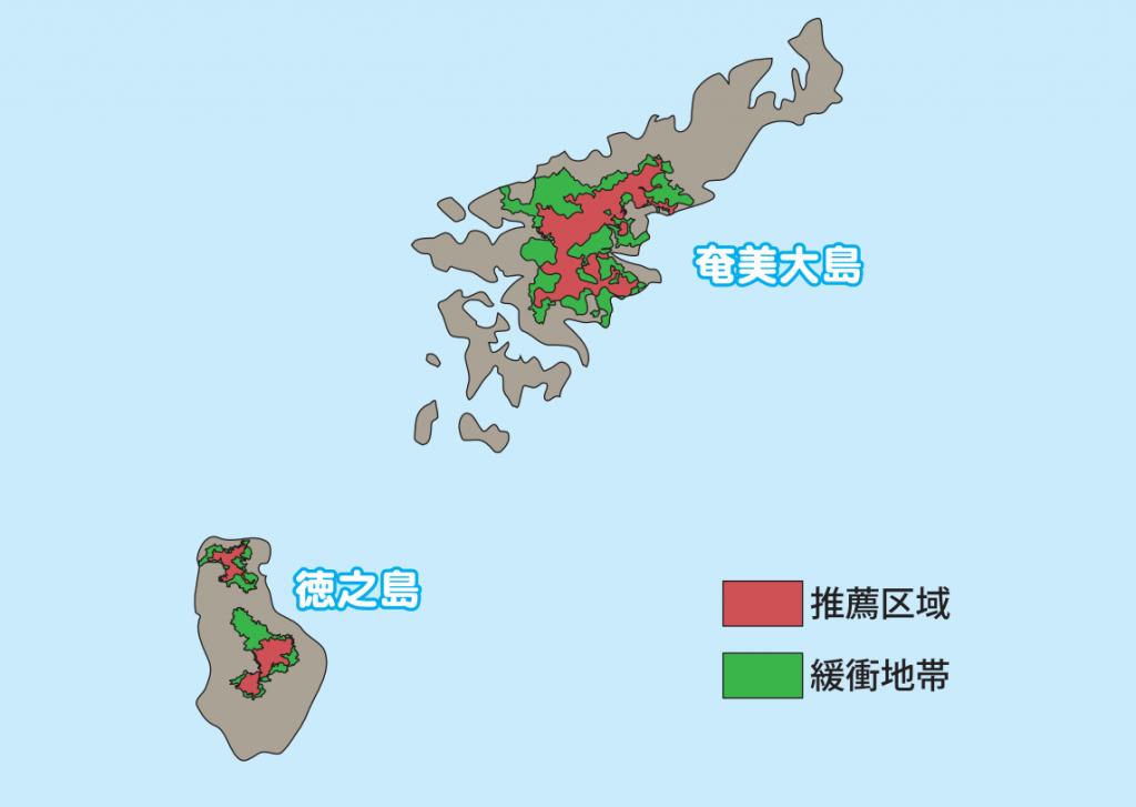 奄美群島マップ