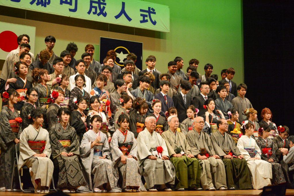 南海日日新聞/写真:成人式の大島紬着用率が最も高かった龍郷町=3日、りゅうがく館
