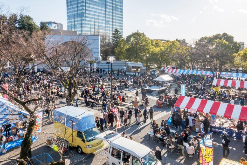 南海日日新聞〔写真〕今年もにぎわった、とくの島観光・物産フェア=2月23日、東京・代々木公園