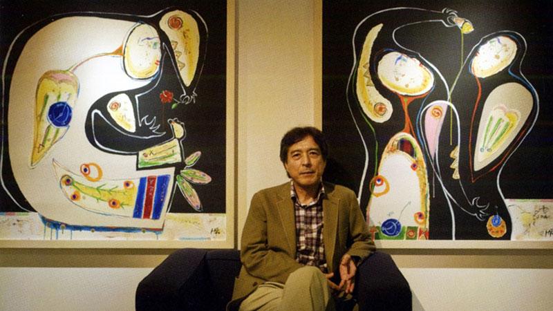 南海日日新聞〔写真〕東京で個展を開いた高島さん=2008年